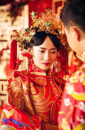 鸿飞婚礼摄影工作室  美美的美美出嫁了 中式婚礼跟拍