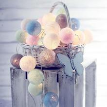 手工棉线藤球LED彩灯串满天星灯婚房布置婚房装饰