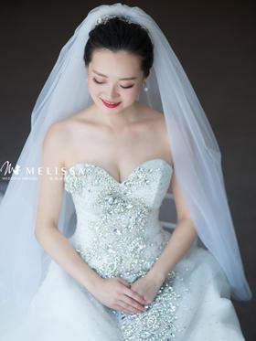 时尚新娘婚纱【美丽纱真实客照】温柔和气场,全都给他