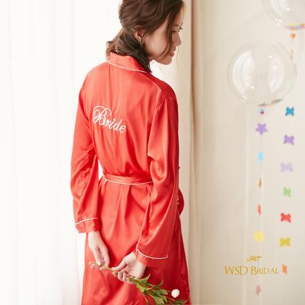 西式bride字母婚礼晨袍