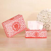 创意盒装超柔双层餐巾纸结婚用品婚礼喜庆纸巾抽纸