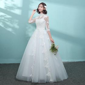 新品尝鲜价!新娘婚纱礼服新款包肩齐地简约公主裙修身显瘦