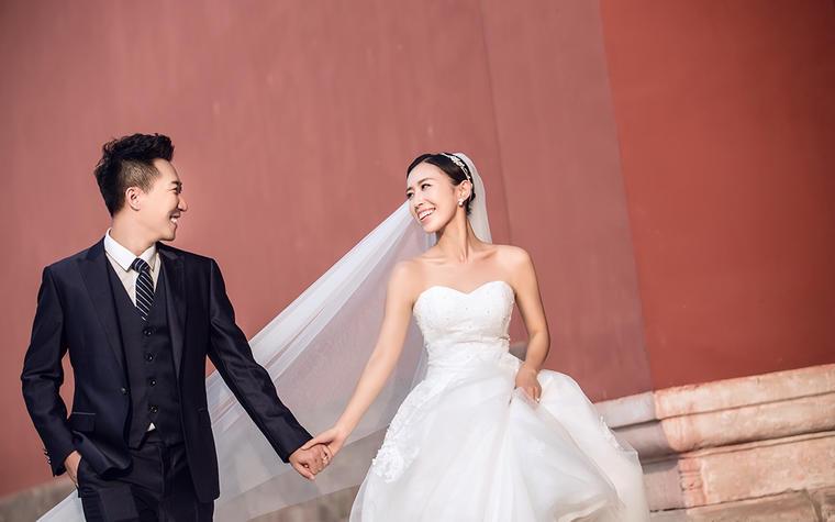 北京婚纱照中国风 故宫角楼胡同婚纱照 外景不限