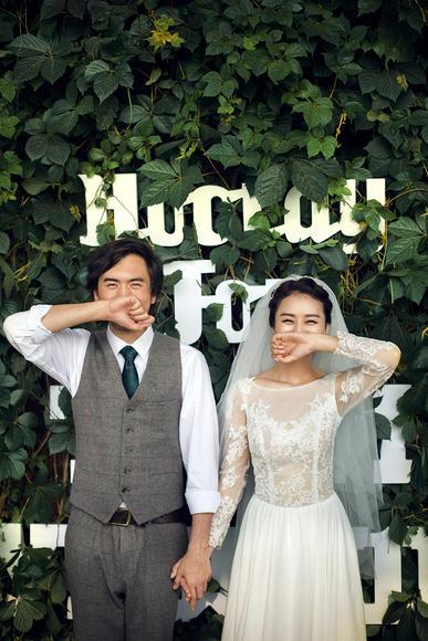 北京旅拍婚纱摄影 森系可爱小清新婚纱照