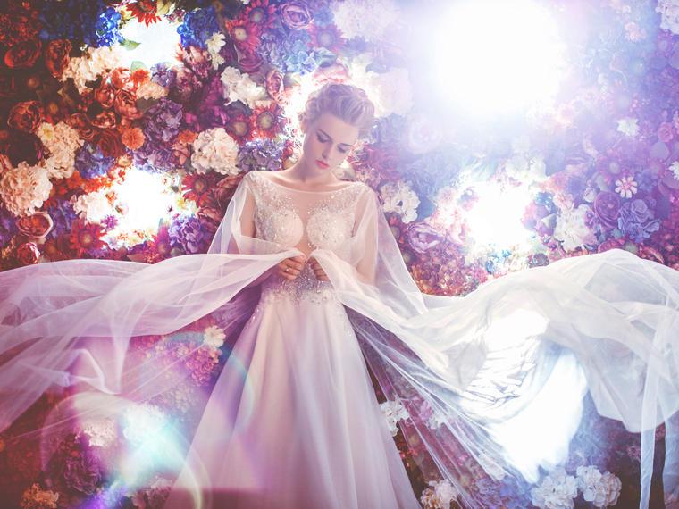 梦幻仙城 唯美花海梦幻花仙让婚纱照更加梦幻