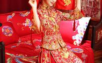 龙凤褂2018新款新娘结婚红色礼服中式嫁衣龙凤褂敬酒服秀