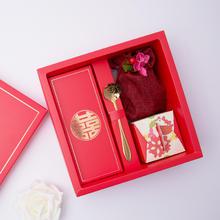 红色中式喜字喜糖盒成品结婚伴手礼品 婚礼回礼喜蜜礼盒蜂喜缘