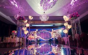 【铂斯特婚礼】唯美梦幻婚礼布置《紫色光旅》