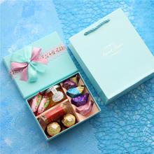 臻忆美 纯色创意婚礼喜糖盒子含糖结婚巧克力喜糖成品伴手礼回礼