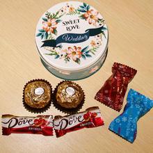 森林系结婚喜糖盒成品含糖欧式包装盒子批發马口铁盒创意结婚用品