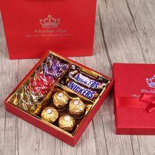 创意欧式结婚回礼礼盒套装成品含糖