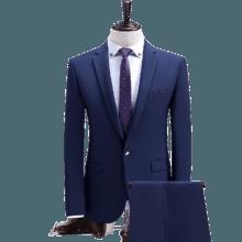 新款纯色结婚西服 男士西装两件套 顺丰包邮!