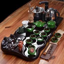 一套起批 四合一电磁炉整套实木茶盘茶具套装紫砂功夫茶具特价