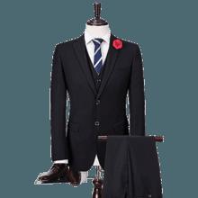 新郎/伴郎礼服 男士结婚西服两/三件套 修身职业黑色西服