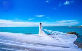 七号印相婚纱摄影【三亚旅拍-爱的海洋】海景婚纱照