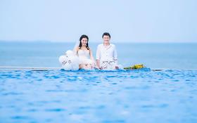 【海景婚纱照】我想用我的全部,换取1条通往你心里的路。
