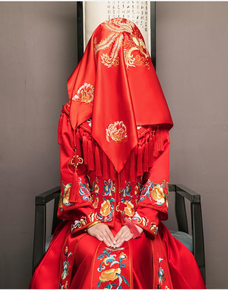 秀禾服新娘礼服中式婚纱凤冠霞帔结婚古装敬酒服新款