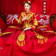 2018新款流苏刺绣秀禾服 中式古装嫁衣
