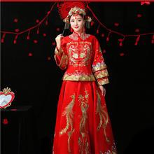 2018新款超显瘦秀禾服 古典端庄中式嫁衣 立体刺绣