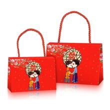 10个包邮价:中国风结婚回礼袋 喜糖盒手提袋 纸盒袋子