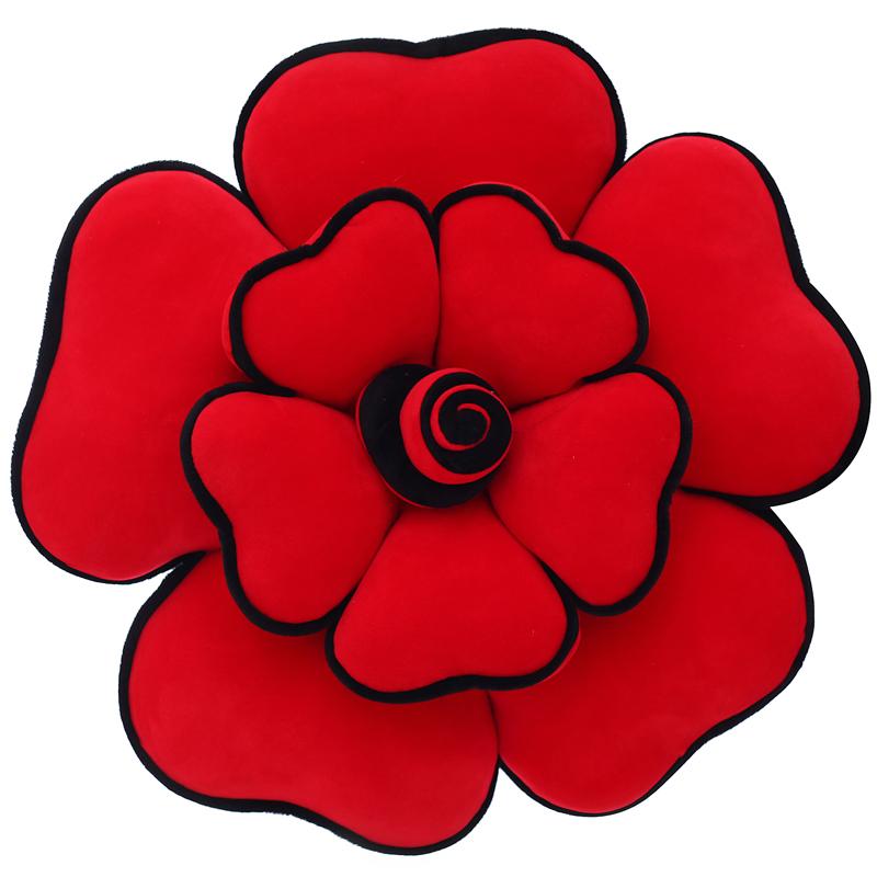 创意抱枕可爱玫瑰花毛绒玩具