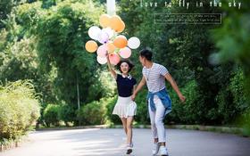 『左岸婚纱摄影/校园客片赏析』告白气球