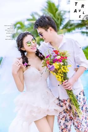 【海景婚纱照】我最幸福的事情就是我在最美的时刻遇见了你。