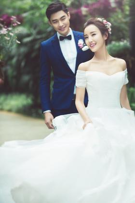晶视觉【繁花似锦】韩式婚纱摄影作品欣赏