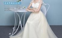 新款韩式香槟色花瓣显瘦绑带姐妹裙伴娘服长款634