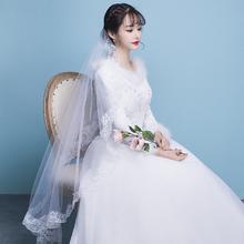 婚纱礼服2017新款冬季新娘加厚棉保暖修身公主甜美梦幻齐地欧
