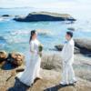 【婚礼记录】花3k+旅拍竟精修100张 森系戒枕鱼缸里凹造型