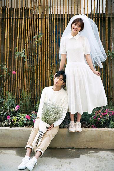【进部摄影】韩式小清新主题婚纱摄影套系——甜蜜对望
