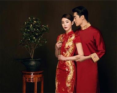 巴黎恋人摄影|中国经典古风婚纱照