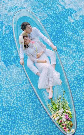 【海景婚纱照】享受这阳光旳沐浴,和只有涐们能读懂旳幸福。