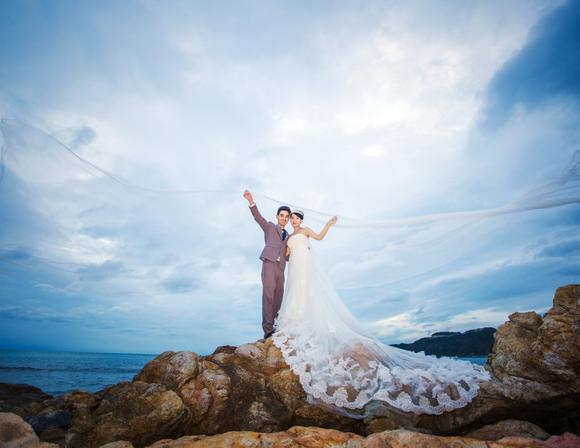 三亚原素物语旅拍婚纱照《嫁出海岛》曾奇敏&杨玉兰