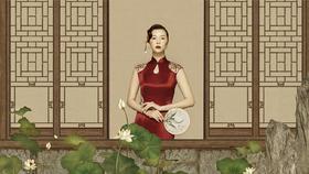 【中式复古婚纱照】济南简摄影工作室工笔画样片拍摄