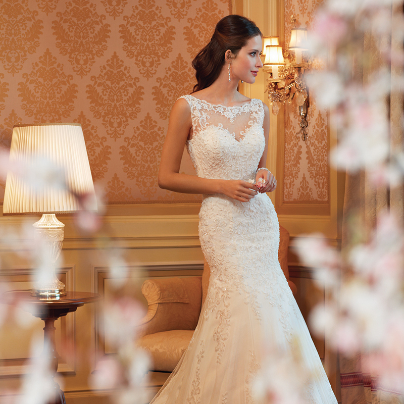 婚纱礼服收腰鱼尾显瘦修身公主拖尾简约韩式宫廷新娘