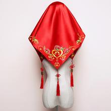 红盖头新娘结婚喜帕蒙头巾婚庆用品中式秀禾服盖头配饰