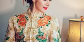 看厌了红色中式礼服,大婚这件孔雀绿龙凤褂真心出彩!