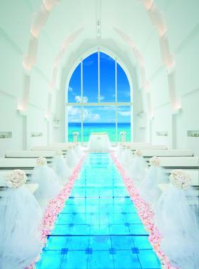 日本冲绳海之教堂浪漫婚礼