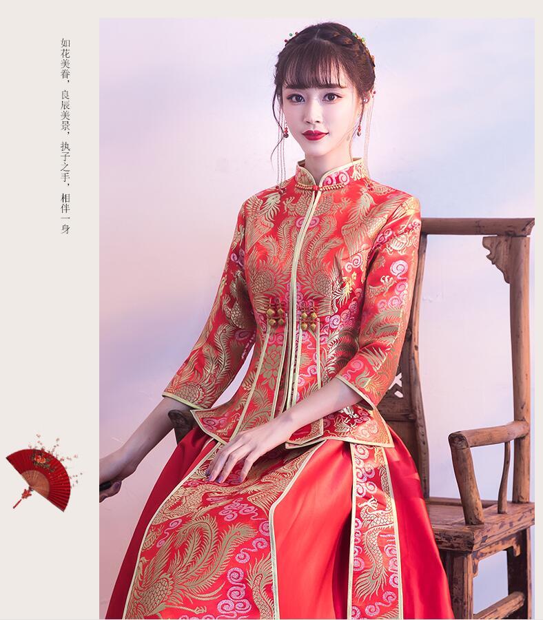 描写古代结婚新娘子的唯美及服装,语言,动作的句子有哪些?图片