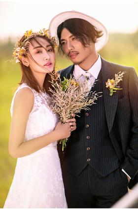 《香港卓美》——韩式情侣小清新外景主题婚纱照1