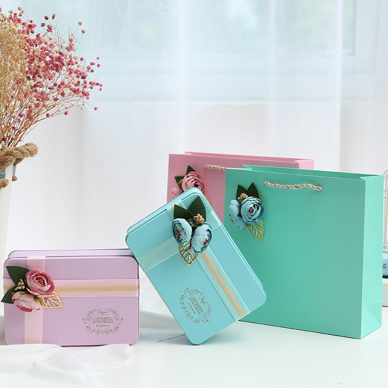 结婚喜糖盒欧式婚庆马口铁创意森系伴手礼盒伴娘回礼