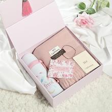 创意浪漫伴手礼婚庆回礼情人节生日礼物送女友闺蜜精美围巾礼盒装