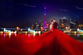 上海米兰尊爵婚纱摄影外滩魔都大气夜景