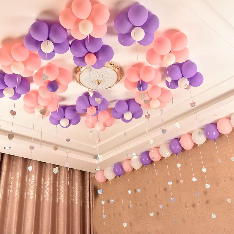 吊坠珠光气球结婚礼婚房布置生日派对爱心卡片装饰图片