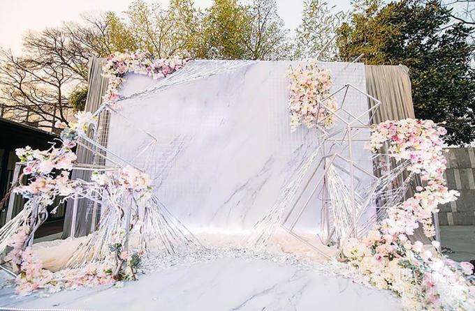 【梦享婚礼】简约轻奢大理石婚礼mrable含灯光