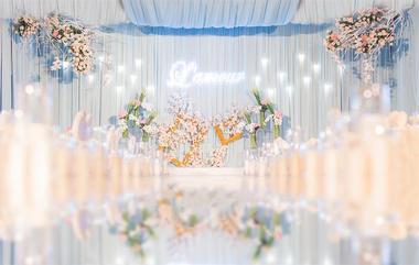 【瑰特诗】水晶粉+静谧蓝樱花主题婚礼