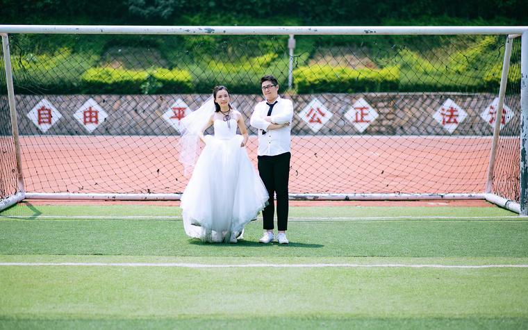 【济南唯恋高端婚纱摄影】校园婚纱照片展示