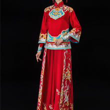 華芬中式嫁衣定制 铜锁 连心锁秀禾服 央视上榜嫁衣 北京高级